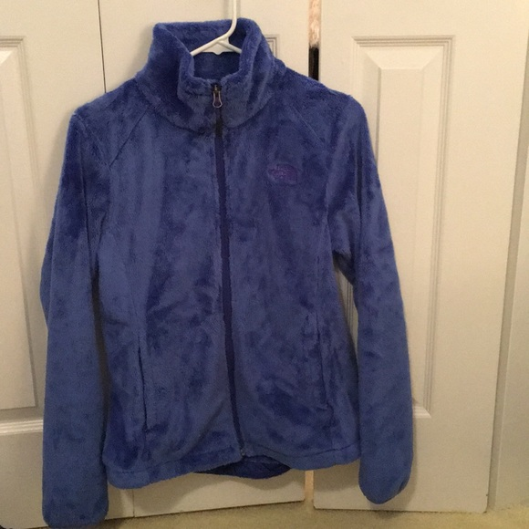 North Face Jackets & Blazers - North Face fluffy blue zip up jacket sz S 56654